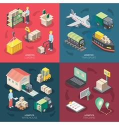 Logistics concept icons set vector