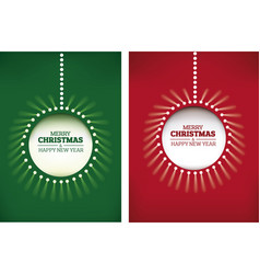 merry christmas background shining christmas ball vector image vector image