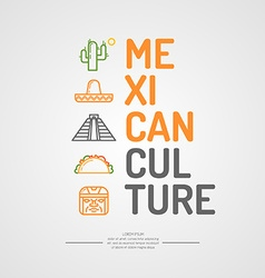 Mexican culture vector image vector image