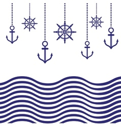 Nautical template vector