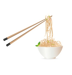noodles with chopstick vector image vector image