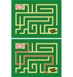 Piglet maze vector