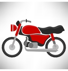 Red bike silhouette vector