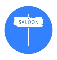 Saloon icon black singe western icon from the vector
