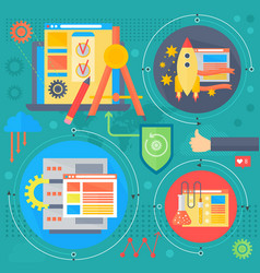 Seo and development concept design infographics vector