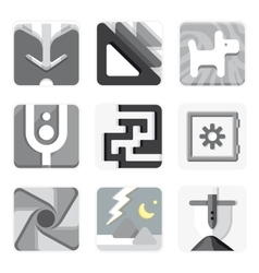 Set of isolated icons for your application vector