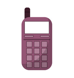 smartphone telephone technology icon vector image vector image