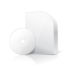 software box and disc vector image