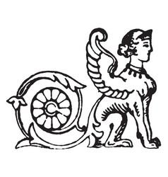 Sphinx vintage vector