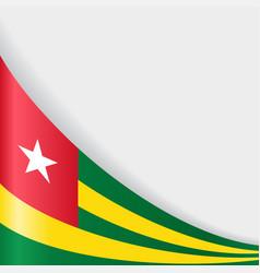 Togo flag background vector
