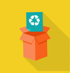 Waste recycling icon vector