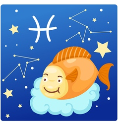 Zodiac signs - Pisces vector image