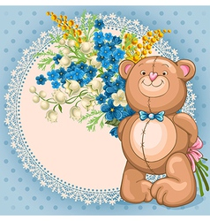 Background with teddy bear vector