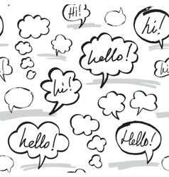 Hello and hi speech bubbles seamless pattern vector