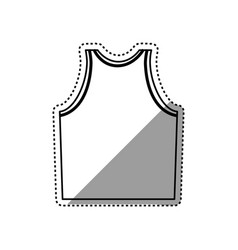 Sleeveless male shirt vector