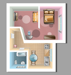 Top view of apartment interior vector