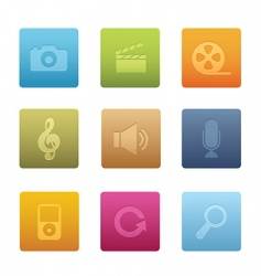 multimedia icons  square vector image