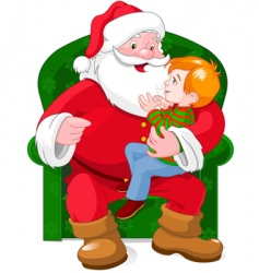 Santa and boy vector image