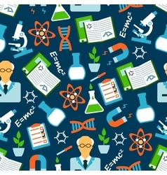 Physical and chemical research seamless pattern vector