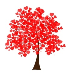 A tree covered with hearts vector