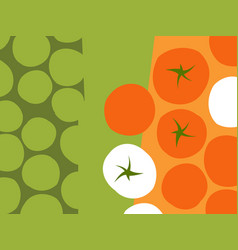 Abstract design rows of tomatoes vector