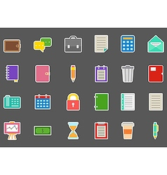 Accounting stickers set vector image vector image