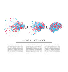 Artificial intelligence brain vector