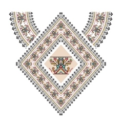Aztec necklace embroidery for fashion women vector