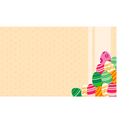 Background easter egg for greeting card vector