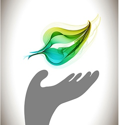 Background with ecological environment icon - hand vector image vector image