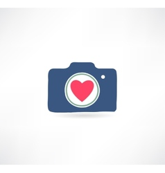 Camera icon I love photography vector image vector image