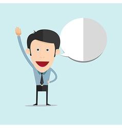 cartoon raise his hand vector image