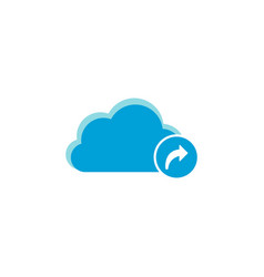 Cloud computing icon arrow forward icon vector
