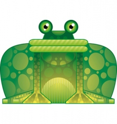 colorful frog vector image vector image