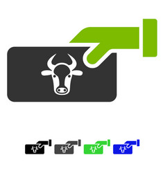 Cow payment flat icon vector