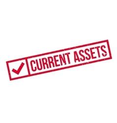 Current assets rubber stamp vector
