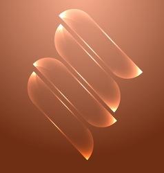 Design orange glass banners set vector image vector image