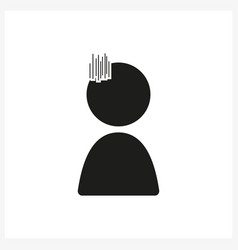 Emotion anime icon sad in simple black design vector