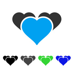 favourite hearts flat icon vector image
