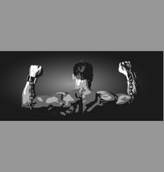 free man on a black background vector image