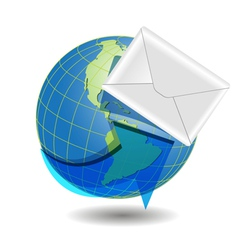 global mail concept vector image vector image