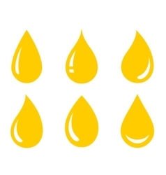 Glossy oil drops set vector