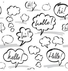 Hello and hi speech bubbles seamless pattern vector