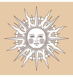 Heraldic sun ring vector