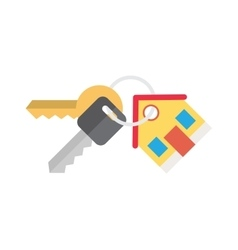 house and key selling renting vector image