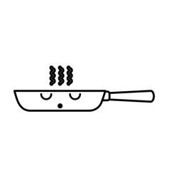 Kawaii skillet cartoon vector