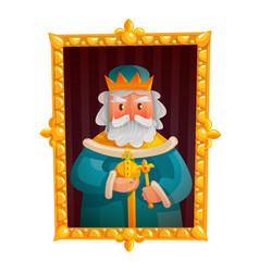 king cartoon portrait vector image