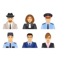 Legal profession flat style vector image