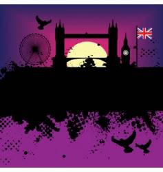 London landscape vector