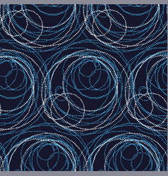 Luxury abstract circle and ring seamless pattern vector